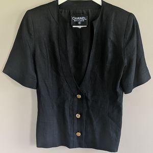 Chanel Vintage Shorts Sleeve Jacket   Size 38